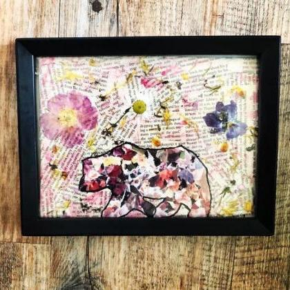 [Unframed] Floral Bear Multimedia P..