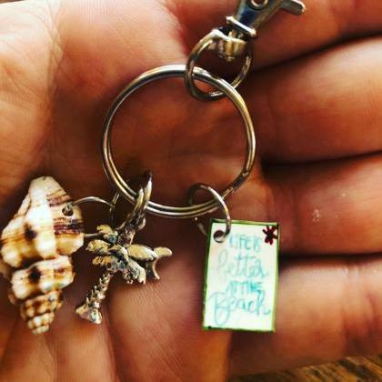 Beach girl Shell Keychains Beach Ke..