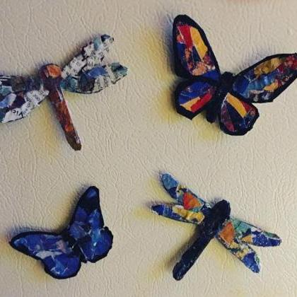 1 Fridge Magnet, butterfly magnet, ..