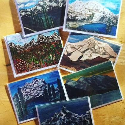 Mountain Inspired Card Set of 7 Lov..