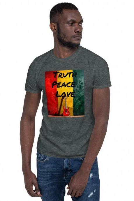 Jamaican Vacation Gift, One Love Jamaica T-Shirt, Trip to Jamaica, West Indies Cruise, Reggae Music Lover, Rasta Colors, Tropical Island Tee