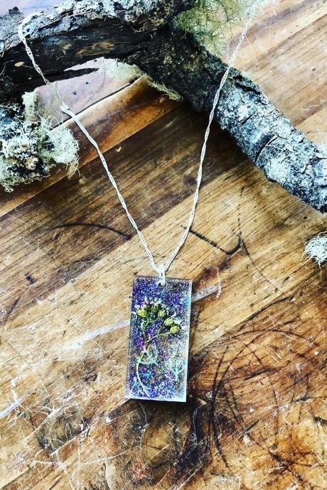 Bling Resin Floral Garden Necklace Floral Necklace | Resin Art | Flower Necklace