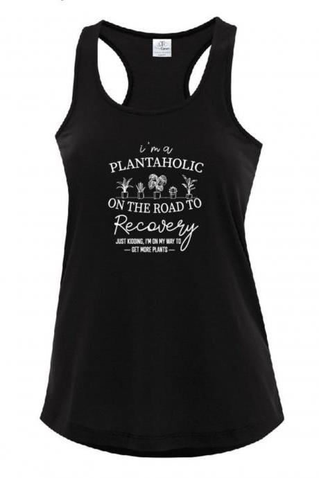 Plantaholic Graphic Black Tank plant lover tee, Love Shirt Plant Lover Gift Plant Lover Tee Unisex Jersey Short Sleeve Tee, Unisex,