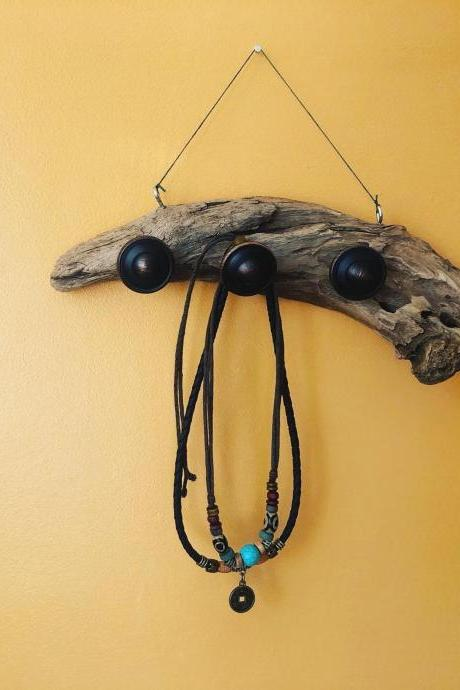 Natural driftwood Jewellery Hanger Driftwood jewelry hanger, key holder, ring tree, jewelry organizer