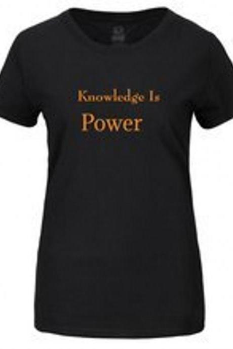 Knowledge Is Power Tshirt Graphic tee T-shirt motivational graphic tee black graphic tee