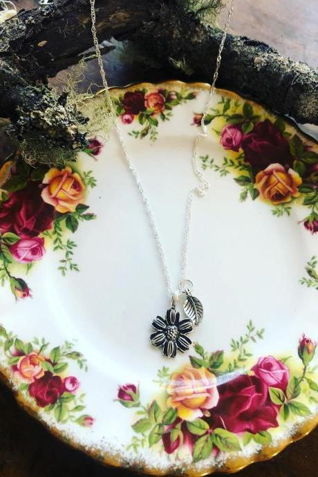 Sunflower Necklace • Daisy Necklace • Sunflower Jewelry • Sunflower Gifts • Sunflower Pendant • Sunflower Wedding • Flower Girl Proposal