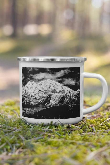 Mountain mug, nature lover mug, gifts for nature lovers, coffee mug, camping mug