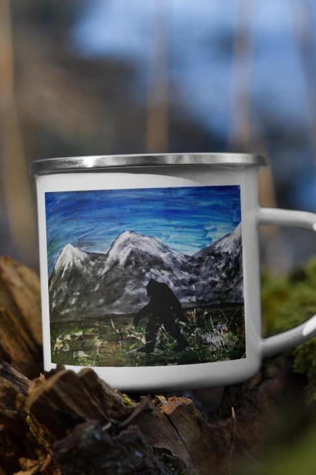 Sasquatch Mug, Bigfoot Mug, Campfire Mug, Camping Mug, Outdoor Mugs, Nature Mug, Hiking Mug, Camp Mug, Camper Coffee Mug, Camping Lover Gift