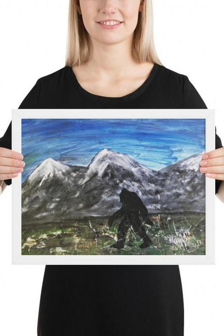 Bigfoot Framed print [8x10 inches]