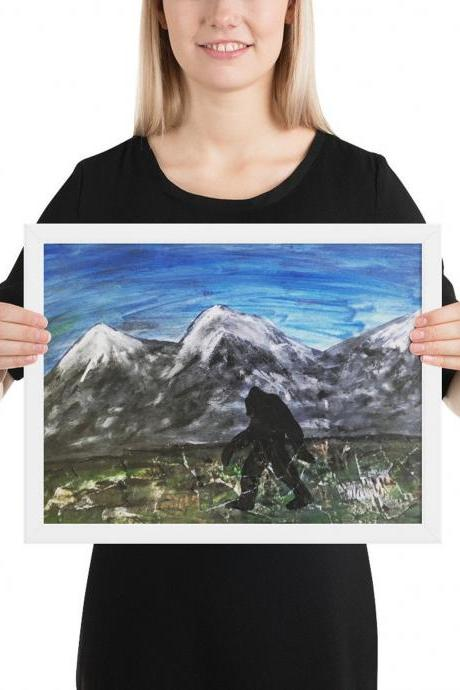 Bigfoot Framed print [18x24 inches]