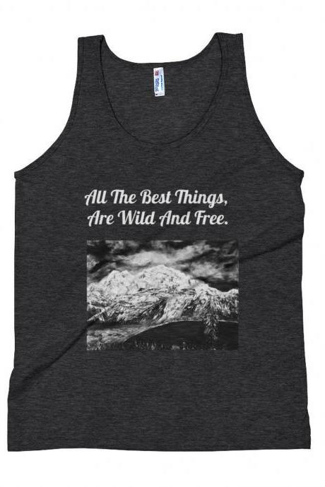 Mountain Tank Top, Nature Tank Top, Adventure , Camping Tank Top, Wanderlust Tanktop, Mountain, Hiking, camping, tree hugger