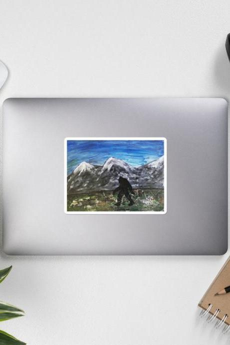 Bigfoot Yeti Decal [3x3], Die Cut Vinyl, Car Decal Sticker, For Car, Window, Bumper Sticker, Truck, Laptop, Walls, Computer, Men, Women,