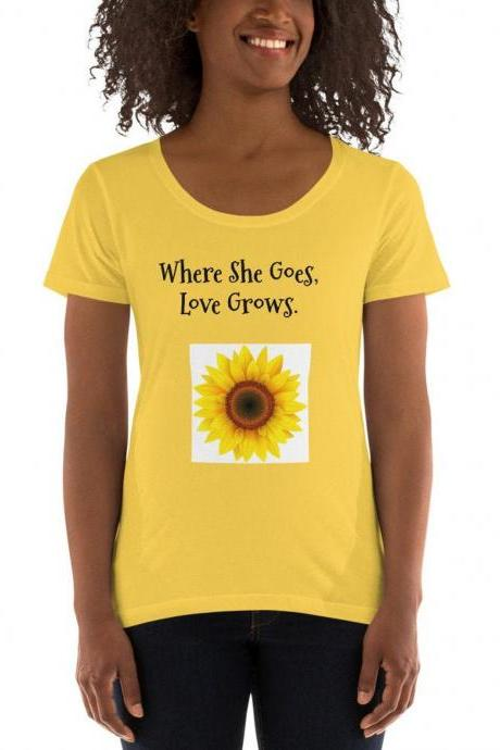 Peace Love and Sunshine, sunflower shirt, graphic t shirt top for woman, woman trendy t shirt top, peace tank, love tank, sunshine