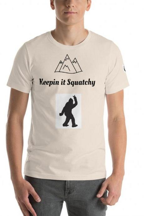 Bigfoot funny Keepin it Squatchy T shirt, cryptozoology shirt, Cool shirt, For Men and Women